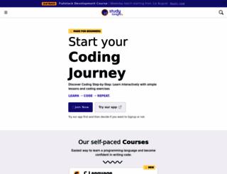 studytonight.com screenshot