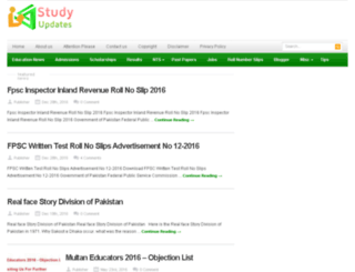 studyupdates.com screenshot