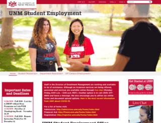 stuemp.unm.edu screenshot