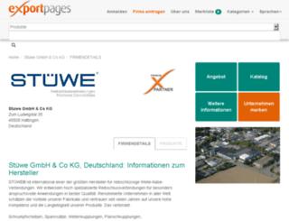 stuewe.exportpages.de screenshot