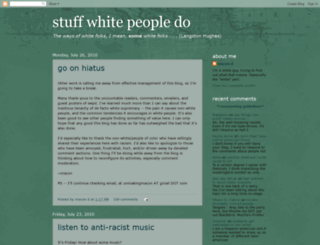 stuffwhitepeopledo.blogspot.com screenshot