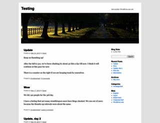 stumbleupontest.wordpress.com screenshot
