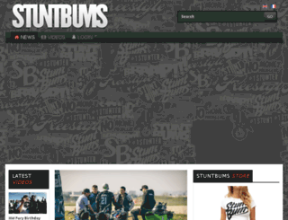 stuntbums.com screenshot