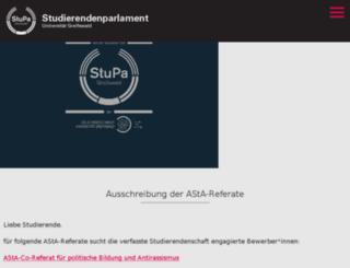 stupa.uni-greifswald.de screenshot