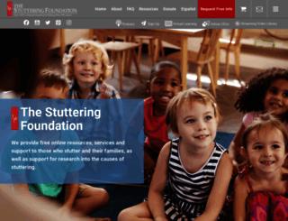 stutteringhelp.org screenshot