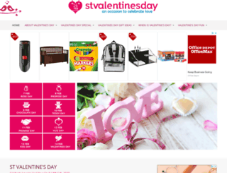 stvalentinesday.org screenshot