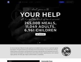 stvincentdepaulbend.org screenshot