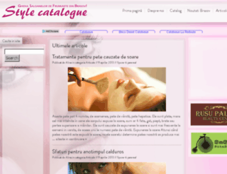 style-catalogue.ro screenshot