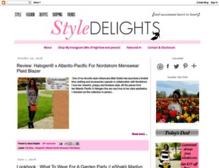 style-delights.blogspot.com screenshot