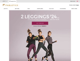 style.fabletics.ca screenshot