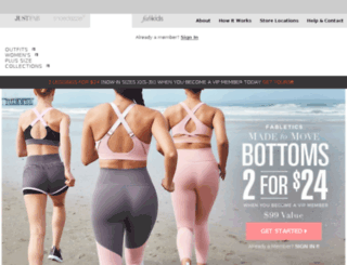 style.fabletics.com screenshot