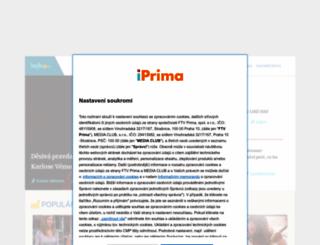 style.iprima.cz screenshot