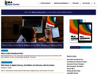 style.mla.org screenshot
