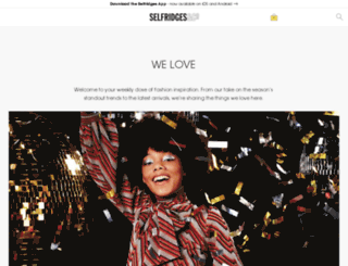 style.selfridges.com screenshot