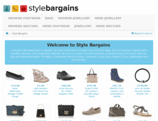 stylebargains.co.uk screenshot