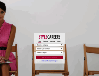 stylecareers.com screenshot