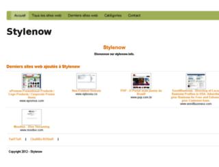 stylenow.info screenshot