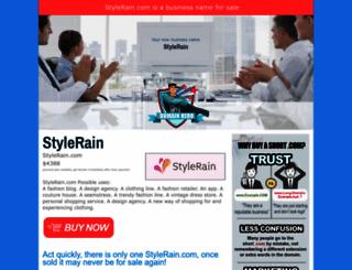 stylerain.com screenshot