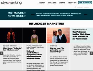 styleranking.de screenshot