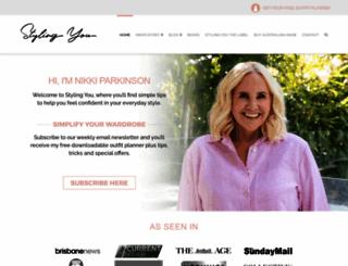 stylingyou.com.au screenshot