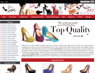 stylishredsoleshoes.com screenshot