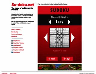 su-doku.net screenshot