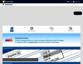 subdominios.miarroba.es screenshot