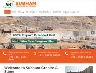 subhamgraniteandstone.com screenshot
