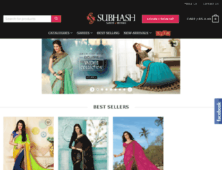 subhashsarees.com screenshot