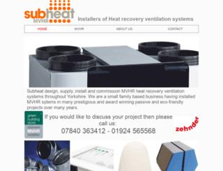 subheat.co.uk screenshot