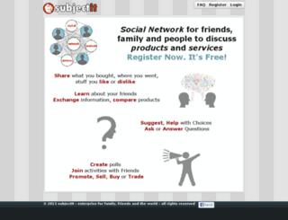 subjectit.com screenshot
