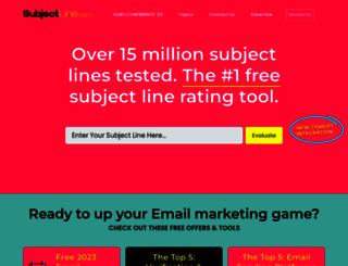 subjectline.com screenshot
