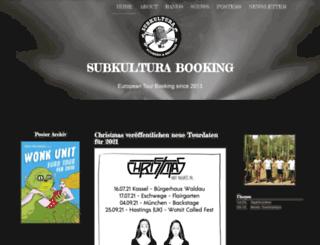 subkultura-booking.eu screenshot