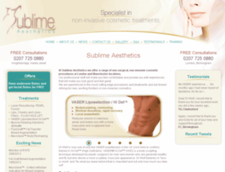 sublimeaesthetics.co.uk screenshot