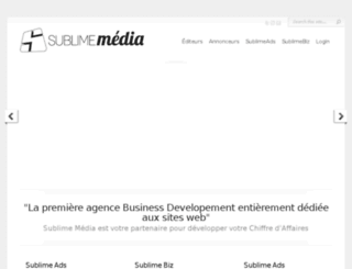 sublimemedia.fr screenshot