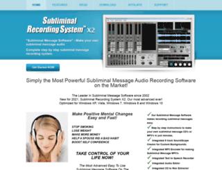 subliminalrecorder.com screenshot
