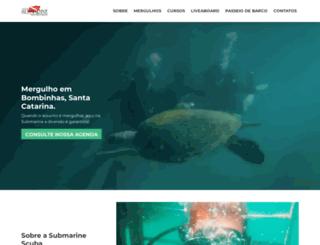 submarinescuba.com.br screenshot