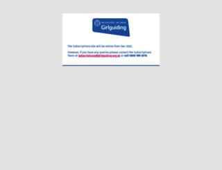 subs.girlguiding.org.uk screenshot