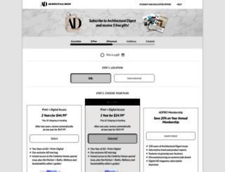 subscribe.architecturaldigest.com screenshot