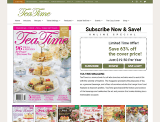 subscribe.teatimemagazine.com screenshot
