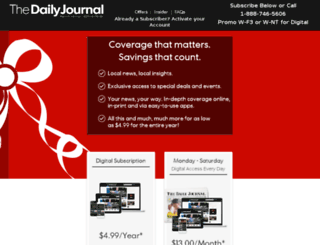 subscribe.thedailyjournal.com screenshot