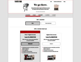 subscribe.vanityfair.com screenshot