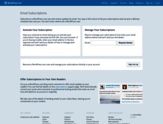 subscribe.wordpress.com screenshot
