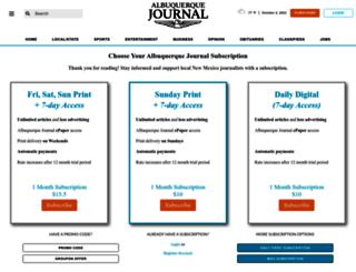 subscriber.abqjournal.com screenshot