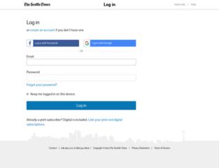 subscriberservices.seattletimes.com screenshot