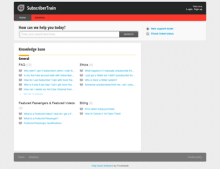 subscribertrain.freshdesk.com screenshot