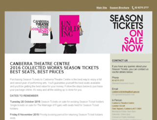 subscription.canberratheatrecentre.com.au screenshot