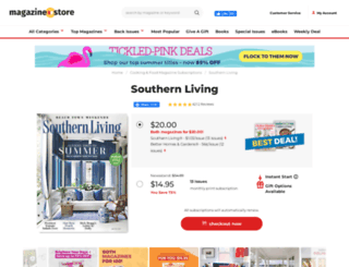 subscription.southernliving.com screenshot