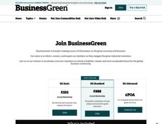 subscriptions.businessgreen.com screenshot