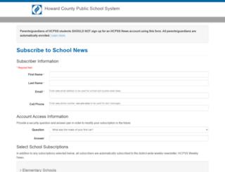 subscriptions.hocoschools.org screenshot